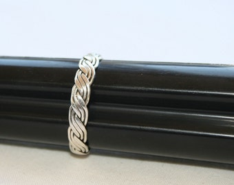 Woven Silver Ring