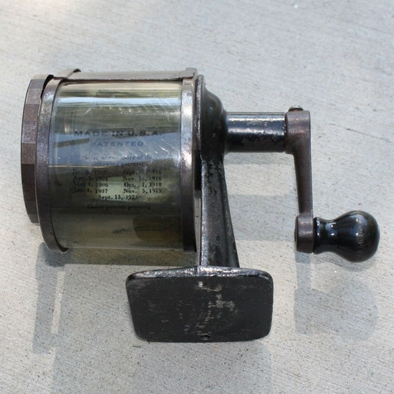 Vintage Metal Wall Mount Pencil Sharpener Made In Usa