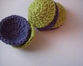 Crochet Cotton Scrubbies (set of 6)