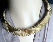 Gold Collar Necklace Fabulous Bars Linked Geometrically