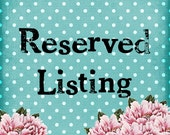 RESERVED  For Jennifer- Please Do Not Purchase-  Cottage Chic Silk Floral Swag