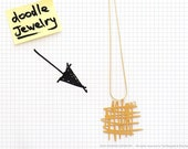 Doodle jewelry / doodle no. 3 necklace in gold