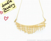 Doodle jewelry / Crisscross in gold