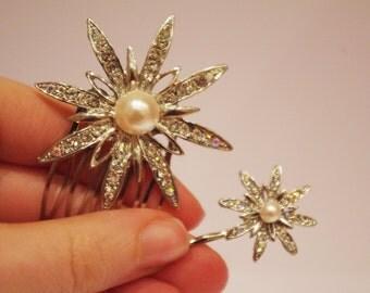 Art Deco Bridal Clip Slide Comb Bobby Pin Vintage Style