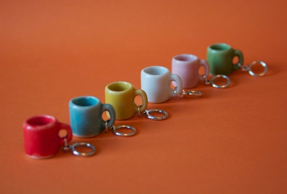 Stitchmarkers - Coffee Mugs - Red, Yellow, Blue, Green, White, Pink  - Stitch Markers