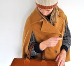 Vintage Oak Tan Leather Doctor's Handbag