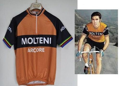 Retro Molteni Eddy Merckx Cycling Jersey Top