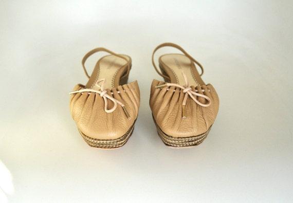 Vintage Giorgio Armani Nude Sandal Shoes