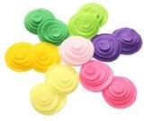 Felt Circles in Circles SPRING CROCUS Set of 70 pieces 5 sizes