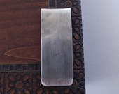 Mens Sterling Silver Money Clip---Antique Finish with Subtle Texture