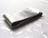 Mens Double Sided Sterling Silver Money Clip--- S Shape Antique Finish with Your Choice of Texture