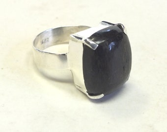 Boulder Opal and Sterling Silver Ring---Size 8 3/4