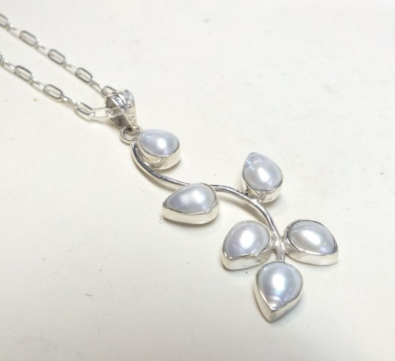 Reserved listing---Long Sterling Silver and Pearl Branch