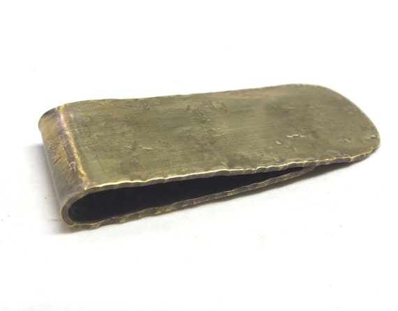 Brass Money Clip----1.5 inches by 2.5 inches long with engraving