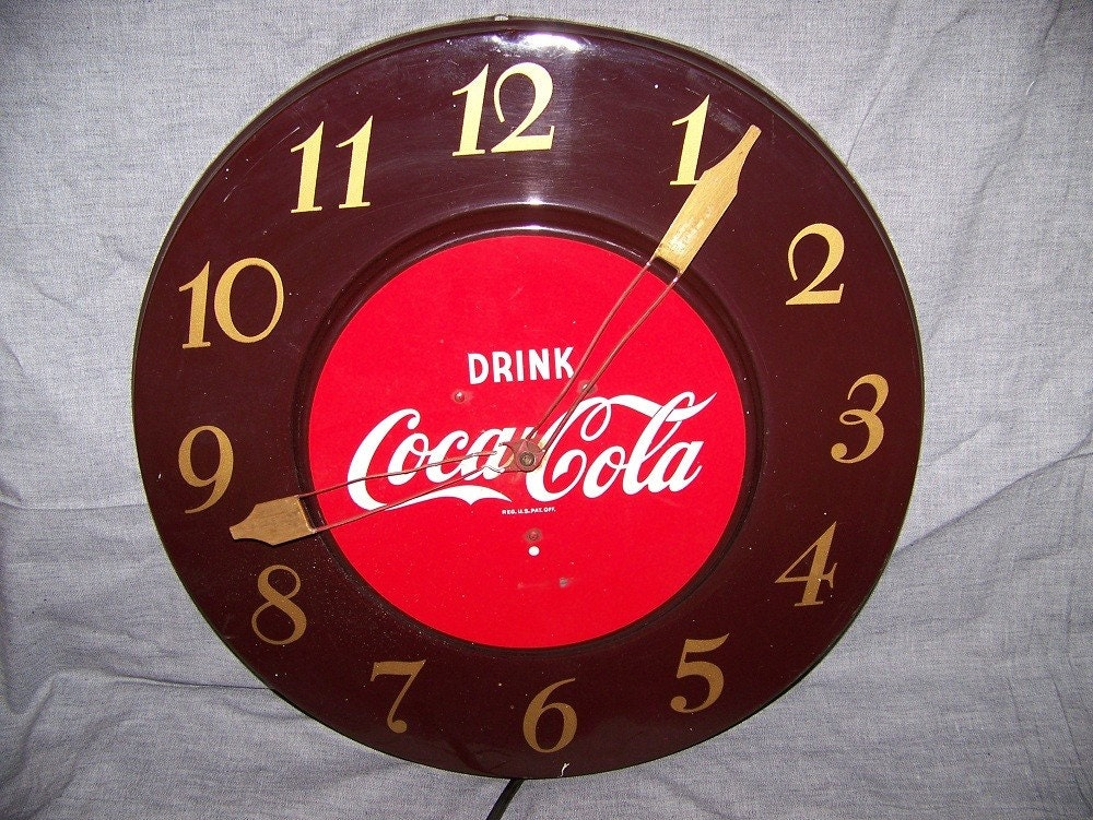 Vintage Coca Cola Wall Clock By Decodude On Etsy