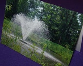 Note Cards Set of 5 - Photo  - Pond with Water Fountain