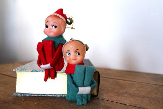 Christmas Knee Hugger Pixie Elves Ornaments