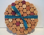 Upcycled Round Wine Cork Slices Trivet