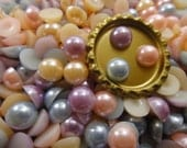 10 mM...MuLTiCoLoR...PeaRL FLaTBaCK Acrylic Cabochons...50 PieCeS...UsA SHiPPiNg...DiY