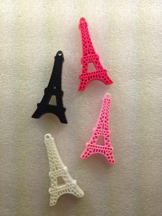 EiFFeL ToWeR KaWaii ReSin Cabochon...4 Pieces...USA Shipping... 50% off Sale