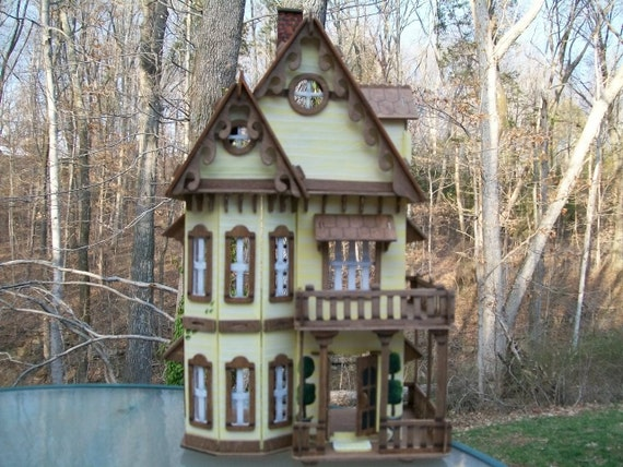 Victorian Hand Painted Lady Wooden Dollhouse By Judipflynn