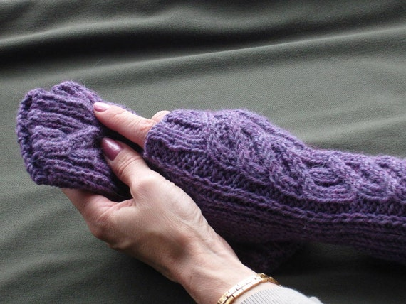 Purple Alpaca Blend Gloves