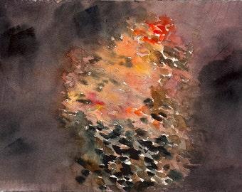 """Memory Had Returned, 7 x 10 1/4"""" original watercolor painting"""