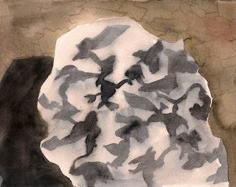 "This was a Secret, 7 x 10 1/4"" original watercolor painting"