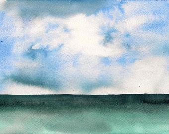 "Easy and Fun, 7 x 10 1/4"" original watercolor painting"