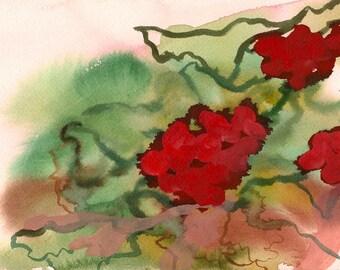 """The Garden Your Hands, 7 x 10 1/4"""" original watercolor painting"""