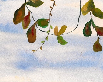 """That's the Wonder of it, 7 x 10 1/4"""" original watercolor painting"""