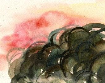 "To Reveal An Awareness, 7 x 10 1/4"" original watercolor painting"