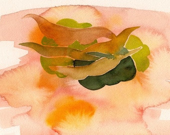 "Archimedean Magic, 7 x 10 1/4"" original watercolor painting"