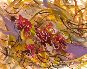 "Illuminated Surface, 7 x 10 1/4"" original watercolor painting"