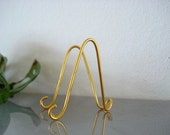 """20 pk Medium GOLD MINI Easel Holder Stand for  6"""" x 4"""" Table Numbers Photo Card Art Holder Place Card Business Card Promotion Display"""
