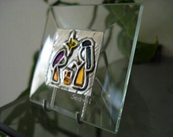 Nativity  Glass Metal Embossing Gift  Wedding Favor Corporate Gift  Birthdays Christmas