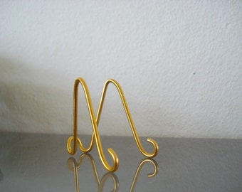50 pk Small GOLD  MINI Easel Holders Stand Place card Holders Table Number Holders, Photo, Promotion Display
