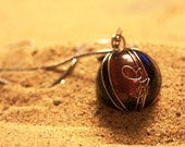 Plump Purple Wire-wrapped Ball Necklace