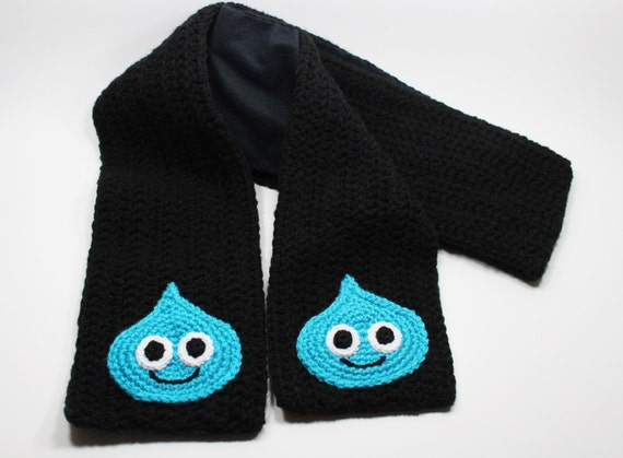 Crocheted Dragon Quest Slime Scarf Adult Size