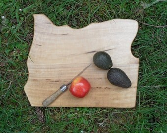 extra large state of Oregon shape Cutting Board