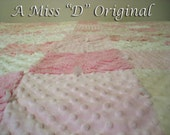 RESERVED for beckymolter - Vintage Chenille Twin/Full Patchwork Quilt Princess Pink