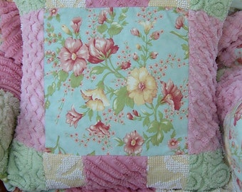 Pillow Faded Memories and Vintage Chenille