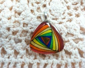 Rainbow Paradox Triangle Glass Tile Pendant