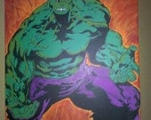 Incredible Hulk - It Aint Easy Being Green -  Canvas Painting