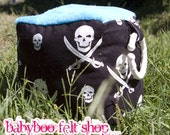 SALE Pirate Jack and Blue Smooth Minky Sensory Block WIth Squeaker