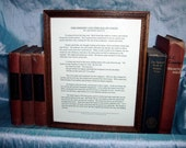 Five Phrases Story, Custom Written, Framed