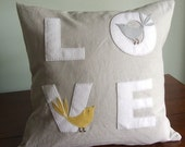 Love Bird Pillow. 16X16