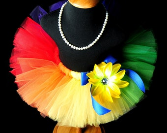 Girl's and Adult Women's Primary Rainbow Tutu...Rainbow Birthday Tutu, Halloween Clown Tutu, Rainbow Cake Smash Tutu . . . PRIMARY RAINBOW