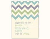 Printable card, 5x7, Quote Art. Love Quote card , I Love You card. Chevron, green purple, aqua, teal. Hipster, modern.