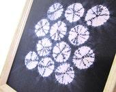 Indigo Shibori Textile Art Print / Wall Decor / Wall Print / Giclee Print / Traditional Japanese Shibori Tie Dye - Textile Decor
